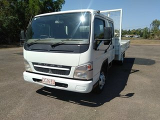 2010 Mitsubishi Fuso Canter FE MY08 FE85D 4.0 LWB White Crew Cab Chassis 4.9l 4x2.
