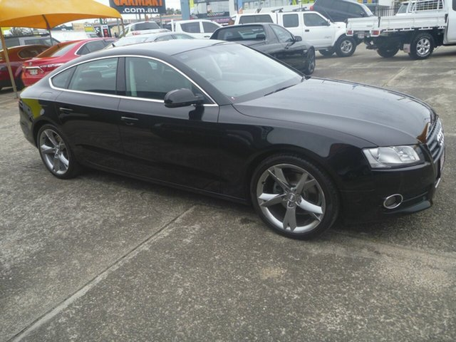 Used Audi A5 8T MY11 Sportback Multitronic, 2011 Audi A5 8T MY11 Sportback Multitronic Black 8 Speed Constant Variable Hatchback
