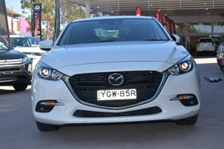 2016 Mazda 3 BN5238 SP25 SKYACTIV-Drive White 6 Speed Sports Automatic Sedan.