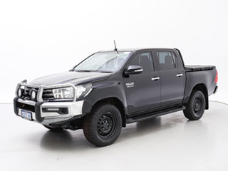 2016 Toyota Hilux GUN126R SR (4x4) Black 6 Speed Manual Dual Cab Utility.