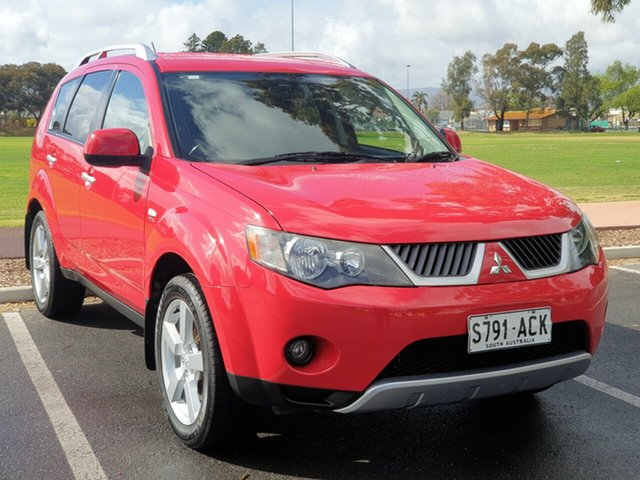 Used Mitsubishi Outlander ZG MY07 XLS, 2007 Mitsubishi Outlander ZG MY07 XLS Red 6 Speed Constant Variable Wagon