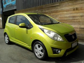 2011 Holden Barina Spark MJ MY11 CDX Green 5 Speed Manual Hatchback.