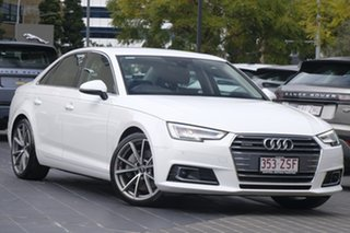 2016 Audi A4 B9 8W MY17 Sport S Tronic White 7 Speed Sports Automatic Dual Clutch Sedan.
