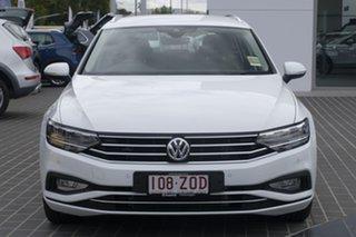 2020 Volkswagen Passat 3C (B8) MY20 140TSI DSG Business Pure White 7 Speed.