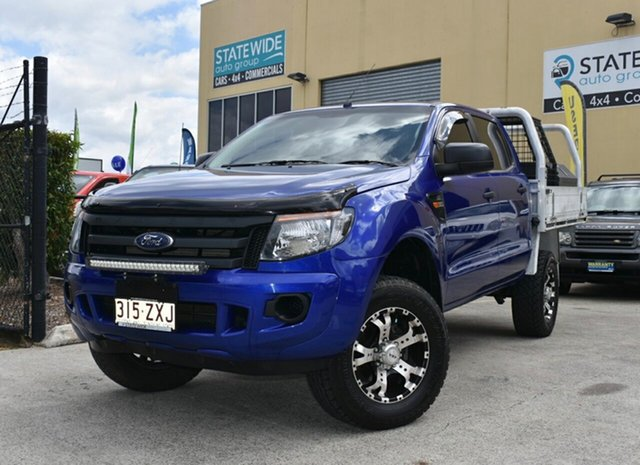 Used Ford Ranger PX XL 2.2 (4x4), 2012 Ford Ranger PX XL 2.2 (4x4) Blue 6 Speed Automatic Crew Cab Chassis