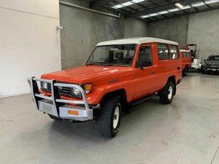 1991 Toyota Landcruiser HZJ75RV Troopcarrier Red 5 Speed Manual Hardtop.
