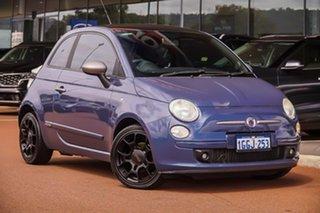 2012 Fiat 500 Series 1 MY12 Blue 5 Speed Manual Hatchback.