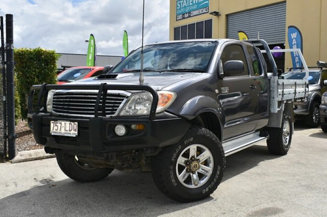 Used Toyota Hilux KUN26R 08 Upgrade SR (4x4), 2008 Toyota Hilux KUN26R 08 Upgrade SR (4x4) Grey 5 Speed Manual X Cab Cab Chassis