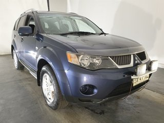 2009 Mitsubishi Outlander ZG MY09 LS Blue 6 Speed Constant Variable Wagon.