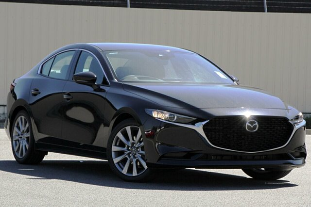 New Mazda 3 BP G25 GT Kirrawee, 2021 Mazda 3 BP G25 GT Jet Black 6 Speed Automatic Sedan