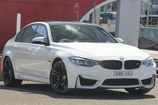 2017 BMW M3 F80 LCI Competition M-DCT White 7 Speed Sports Automatic Dual Clutch Sedan.