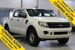 2015 Ford Ranger PX XL 3.2 (4x4) White 6 Speed Manual Double Cab Pick Up.