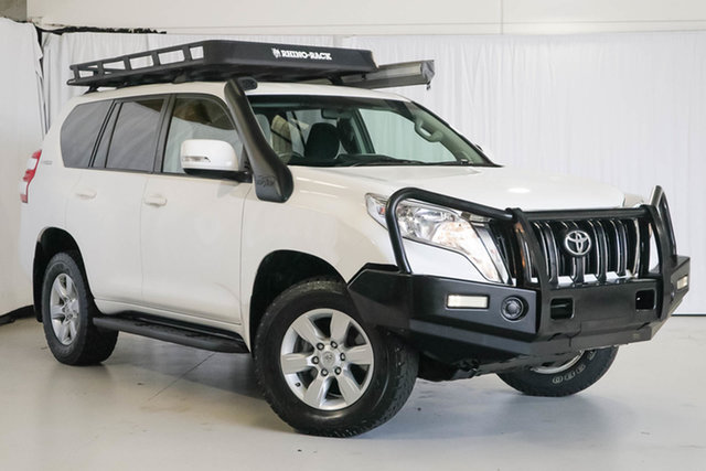 Used Toyota Landcruiser Prado GDJ150R GXL, 2016 Toyota Landcruiser Prado GDJ150R GXL White 6 Speed Sports Automatic Wagon