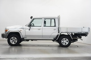 2019 Toyota Landcruiser VDJ79R GXL Double Cab Silver 5 Speed Manual Cab Chassis.