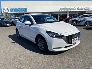 2019 Mazda 2 Snowflake White.