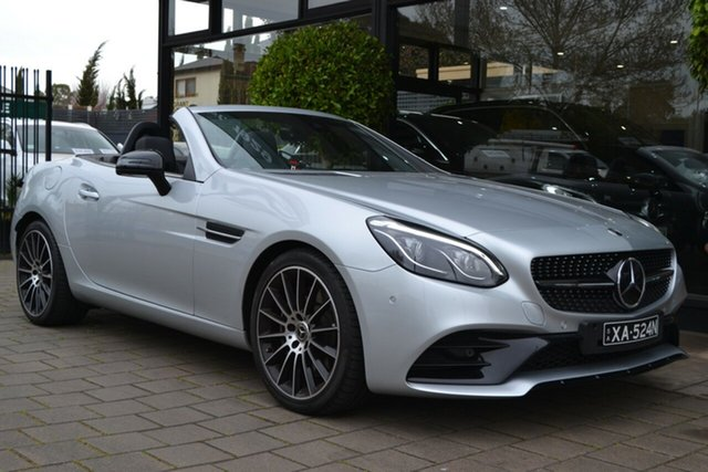 Used Mercedes-Benz SLC-Class R172 808MY SLC300 9G-Tronic, 2018 Mercedes-Benz SLC-Class R172 808MY SLC300 9G-Tronic Silver 9 Speed Sports Automatic Roadster