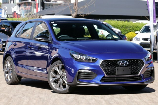 New Hyundai i30 PD.3 MY20 N Line D-CT Premium Nunawading, 2020 Hyundai i30 PD.3 MY20 N Line D-CT Premium Intense Blue 7 Speed Sports Automatic Dual Clutch