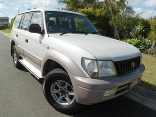 2001 Toyota Landcruiser Prado GXL White 4 Speed Automatic Wagon.