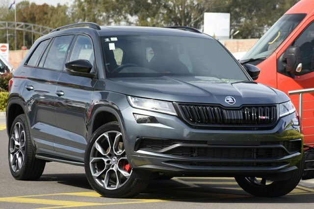 New Skoda Kodiaq NS MY21 RS DSG Parramatta, 2020 Skoda Kodiaq NS MY21 RS DSG Quartz Grey 7 Speed Sports Automatic Dual Clutch Wagon