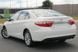 2015 Toyota Camry ASV50R Atara S White 6 Speed Automatic Sedan.