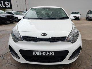 2014 Kia Rio S White Sports Automatic Hatchback.