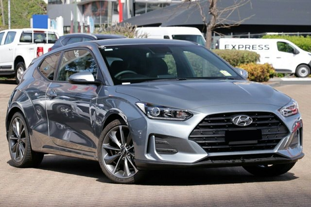 New Hyundai Veloster JS MY20 Coupe, 2019 Hyundai Veloster JS MY20 Coupe Lake Silver 6 Speed Automatic Hatchback