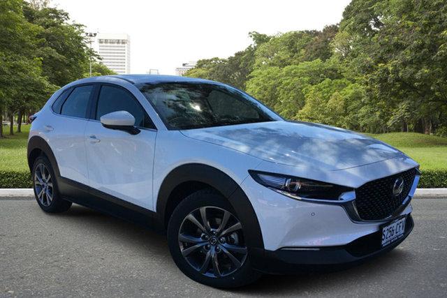 Demo Mazda CX-30 DM4WLA X20 SKYACTIV-Drive i-ACTIV AWD Astina Paradise, 2020 Mazda CX-30 DM4WLA X20 SKYACTIV-Drive i-ACTIV AWD Astina White Pearl 6 Speed Sports Automatic