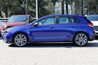 2020 Hyundai i30 PD.3 MY20 N Line Premium Intense Blue 7 Speed Auto Dual Clutch Hatchback