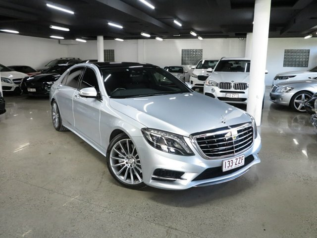 Used Mercedes-Benz S-Class V222 806MY S400 L 7G-Tronic + Albion, 2015 Mercedes-Benz S-Class V222 806MY S400 L 7G-Tronic + Silver 7 Speed Sports Automatic Sedan