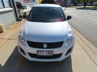2013 Suzuki Swift GL White 5 Speed Manual Hatchback.