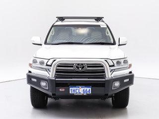 2017 Toyota Landcruiser VDJ200R MY16 Sahara (4x4) White 6 Speed Automatic Wagon.