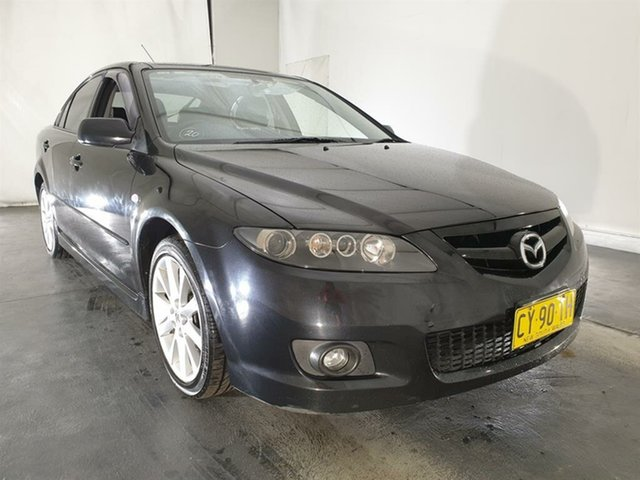 Used Mazda 6 GG1032 Luxury Sports, 2005 Mazda 6 GG1032 Luxury Sports Black 5 Speed Sports Automatic Hatchback
