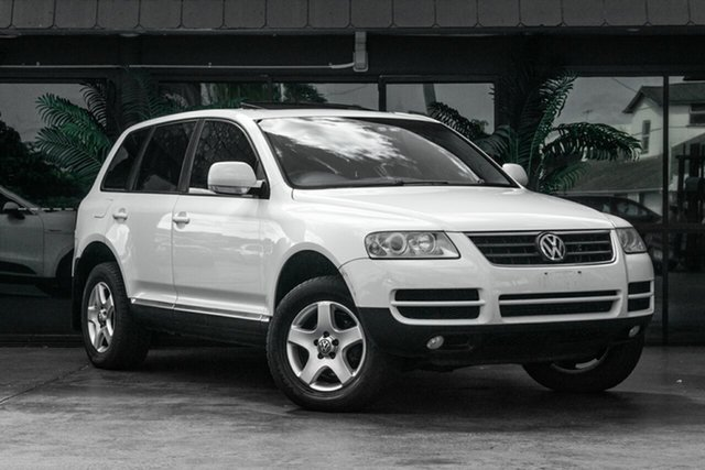 Used Volkswagen Touareg 7L MY05 R5 TDI 4XMOTION, 2005 Volkswagen Touareg 7L MY05 R5 TDI 4XMOTION White 6 Speed Sports Automatic Wagon