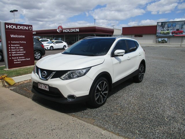Used Nissan Qashqai J11 TI North Rockhampton, 2015 Nissan Qashqai J11 TI White 6 Speed Manual Wagon