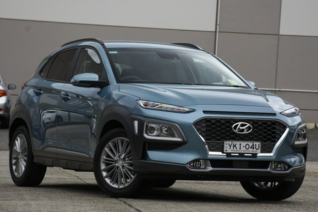 Demo Hyundai Kona OS.3 MY20 Elite 2WD, 2020 Hyundai Kona OS.3 MY20 Elite 2WD Ceramic Blue 6 Speed Sports Automatic Wagon