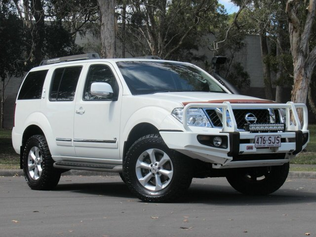 Used Nissan Pathfinder R51 MY10 Ti 550, 2012 Nissan Pathfinder R51 MY10 Ti 550 White 7 Speed Sports Automatic Wagon
