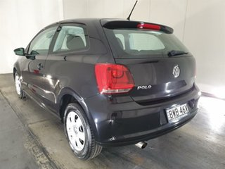 2010 Volkswagen Polo 6R Trendline DSG Black 7 Speed Sports Automatic Dual Clutch Hatchback