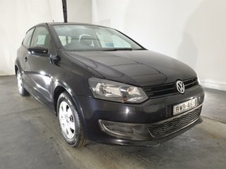 2010 Volkswagen Polo 6R Trendline DSG Black 7 Speed Sports Automatic Dual Clutch Hatchback.