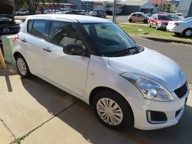Used Suzuki Swift GL Toowoomba, 2013 Suzuki Swift GL White 5 Speed Manual Hatchback