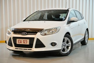 2015 Ford Focus LW MkII MY14 Trend PwrShift White 6 Speed Auto Hatchback.