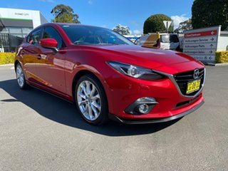 2015 Mazda 3 BM5436 SP25 SKYACTIV-MT GT Red 6 Speed Manual Hatchback.