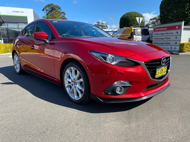 Used Mazda 3 BM5436 SP25 SKYACTIV-MT GT, 2015 Mazda 3 BM5436 SP25 SKYACTIV-MT GT Red 6 Speed Manual Hatchback
