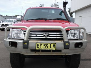 2000 Toyota Landcruiser Prado KZJ95R TX FullTime 4WD DR Red 5 Speed Manual Wagon.