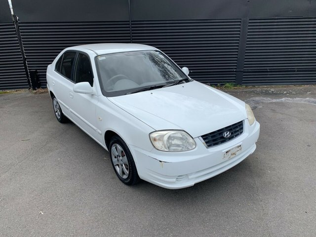 Used Hyundai Accent LC MY04 GL, 2004 Hyundai Accent LC MY04 GL White 4 Speed Automatic Hatchback