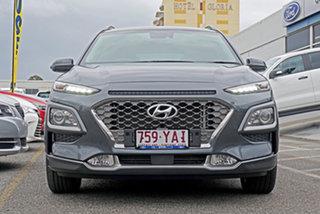 2017 Hyundai Kona OS MY18 Elite D-CT AWD Grey 7 Speed Sports Automatic Dual Clutch Wagon.