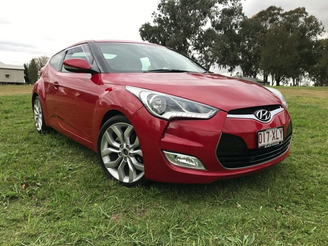Used Hyundai Veloster FS MY13 , 2012 Hyundai Veloster FS MY13 Red 6 Speed Auto Dual Clutch Coupe