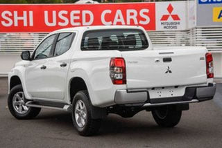 2019 Mitsubishi Triton MR MY20 GLX+ Double Cab White 6 Speed Manual Utility.