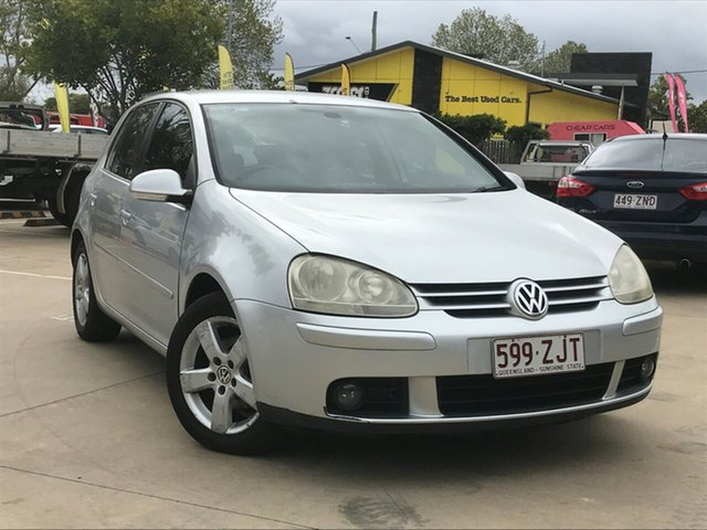 Used Volkswagen Golf V MY08 Pacific Toowoomba, 2008 Volkswagen Golf V MY08 Pacific Silver 6 Speed Manual Hatchback