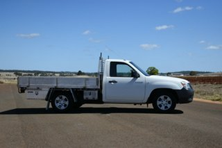 2008 Mazda BT-50 08 Upgrade B2500 DX White 5 Speed Manual Cab Chassis.