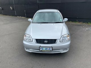 2005 Hyundai Accent LC MY04 GL Clean Silver 5 Speed Manual Hatchback.